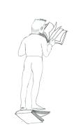 homme avec livre